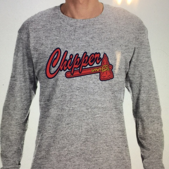 newest f8e6e 69b1a Atlanta Braves Chipper Jones Long Sleeve Shirt NWT